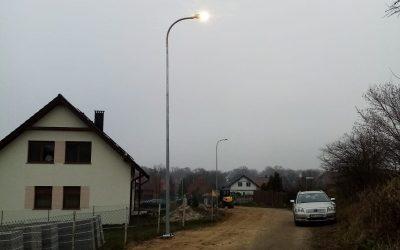 Oświetlenie drogi w Wierzchowicach
