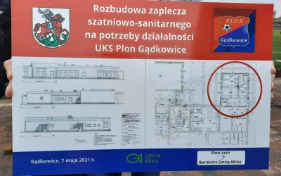 Tablica Milicz UKS Plon Gądkowice